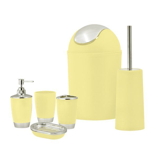 Shop Wayfair Co Uk For The Best Mustard Bathroom Accessories Enjoy Free Shipping Over 40 Yellow Bathroom Accessories Yellow Bathrooms Bathroom Accessory Set