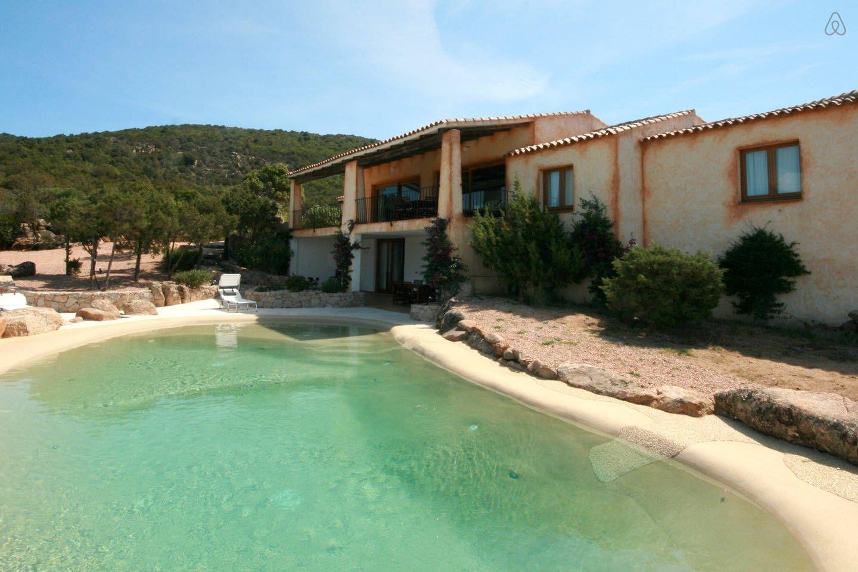 Stunning pool villa with sea view in Baia Sardinia | Villa ...
