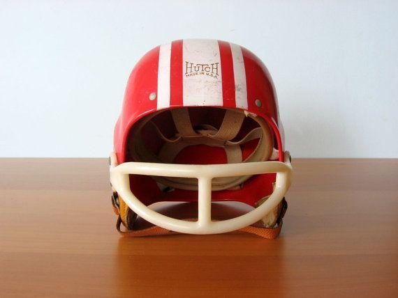 Vintage Football Helmet / Hutch by vintageseventyfive on Etsy, $56.00