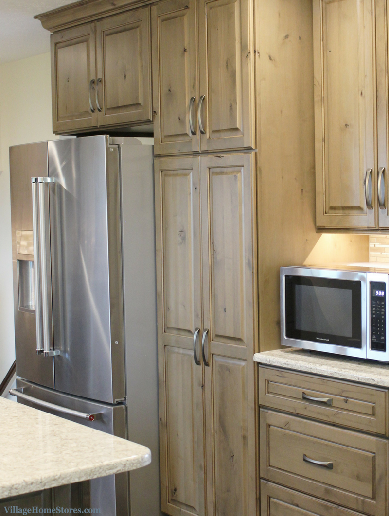 Example of a standard depth refrigerator installed in a quad cities kitchen villagehomestores com