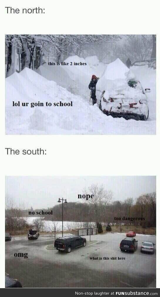 Snow Funsubstance Funny Pictures Snow Humor The Meta Picture