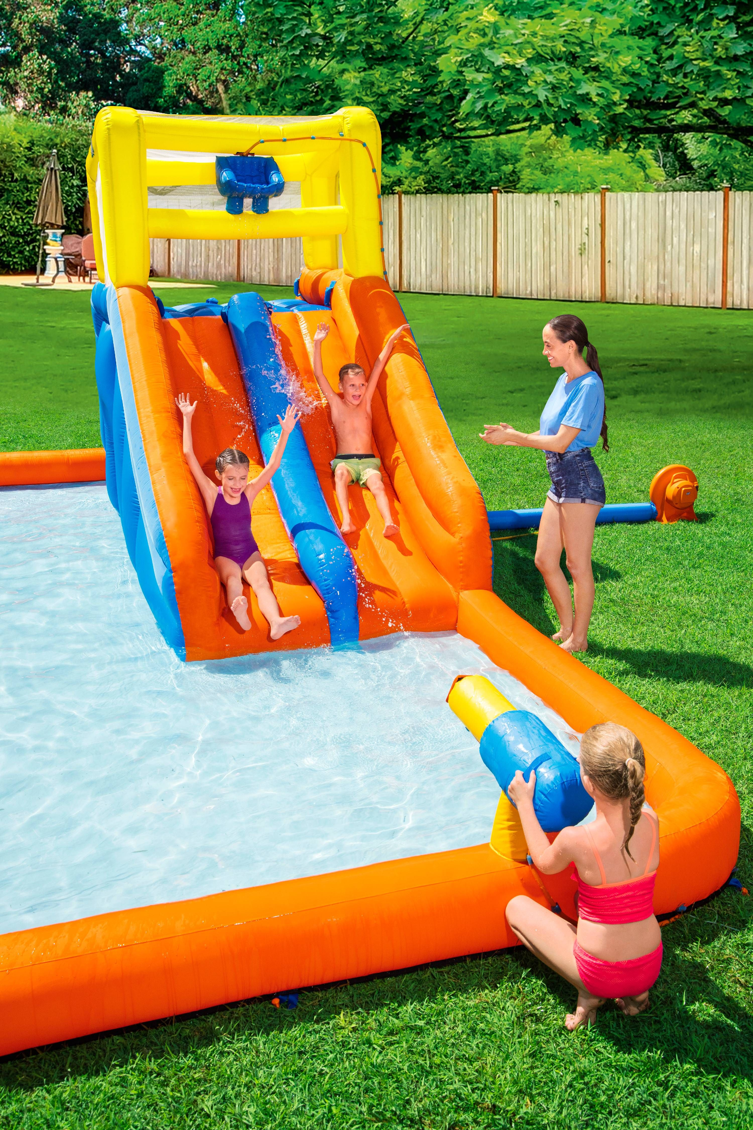 H2ogo Maui Mountain Kids Inflatable Water Park 8 8 Walmart Com Inflatable Water Park Water Park Outdoor Games For Toddlers