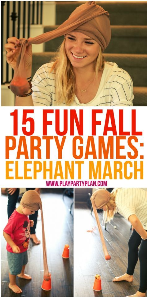 15 fun fall party games that are perfect for every age - for kids, for adults, for teens, or even for kindergarten age kids! Tons of great minute to win it style games you could play at home, in the classroom, outdoor, or even for school carnivals. Can't wait to try these with my son's preschool class! #games