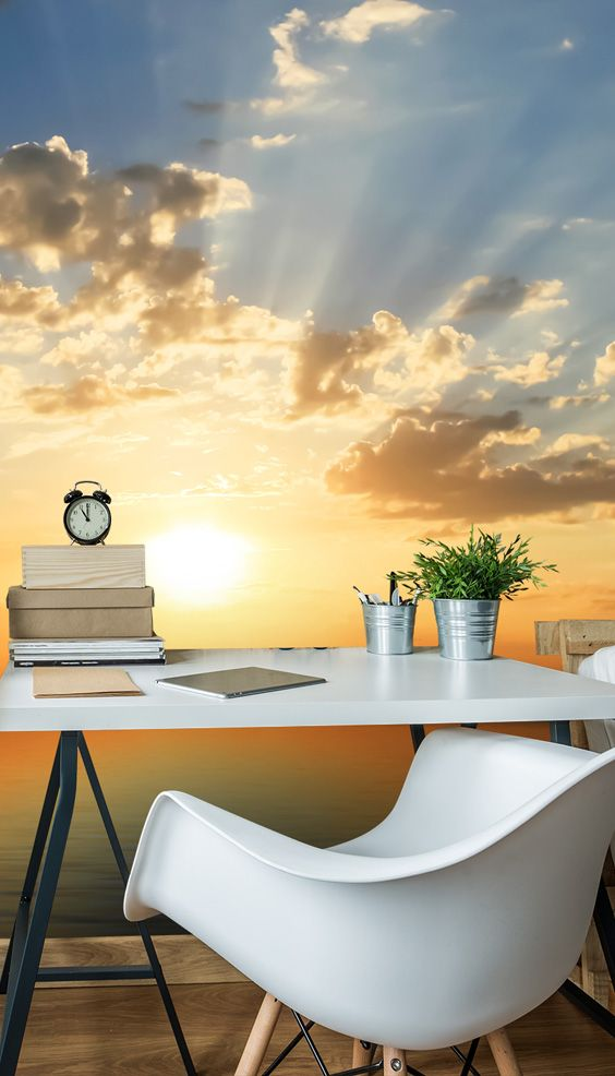 Sea View Sunset Wall Mural Wallpaper murals Wallpaper and Bedrooms