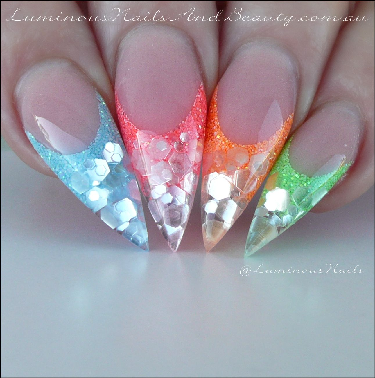 Sweet Treats Colourful Acrylic Nails. Rainbow Nails.   Nail Design ...