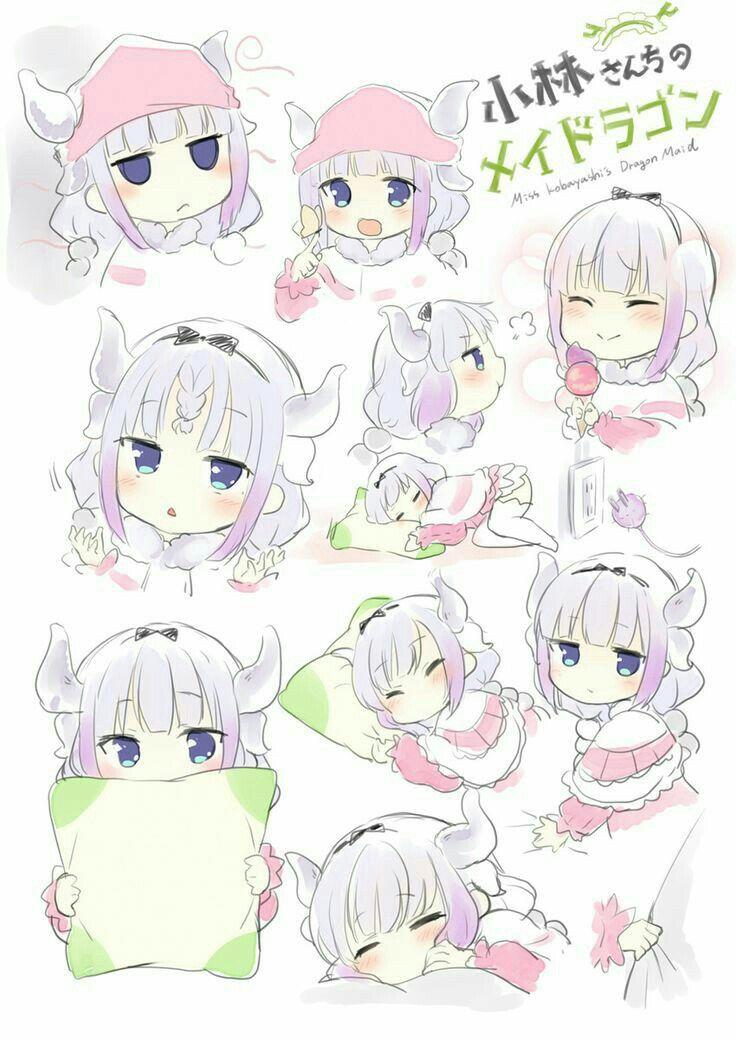 Dragon KannaChan Anime maid, Miss kobayashi's dragon