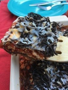 Gluten-Free Baked Spaghetti with Black Bean Noodles  The post Baked Black Bean S…