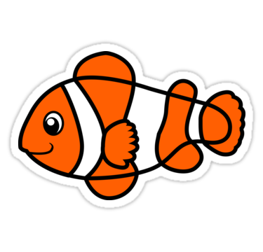 Cartoon Clown Fish Sticker By Designsbydb With Images Clown