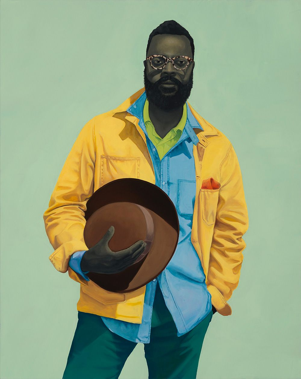 <p>Baltimorean artist Amy Sherald paints African-American Portraits like no one else. Her life-sized portraits main subjects are only Afro-Americain, but one of her very own signature is how Sherald p