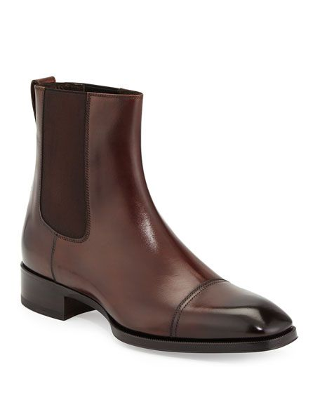 TOM FORD Gianni Leather Chelsea Boots in 2020   Leather ...