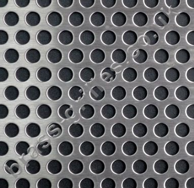 Round Holes Matt Stainless Steel Decorative Grille Sheet 1000mm X