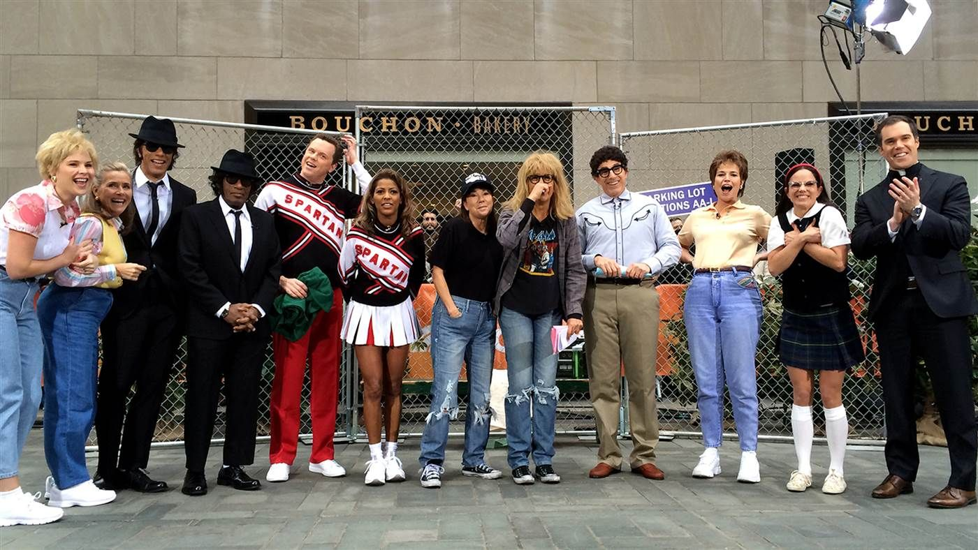 the whole today gang dresses up as famous snl characters