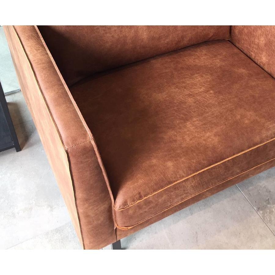 Donkergrijze Leren Bank.Lifestyle Perugia Lounge Sofa Leren Bank Grijs Cognac Groen Leer