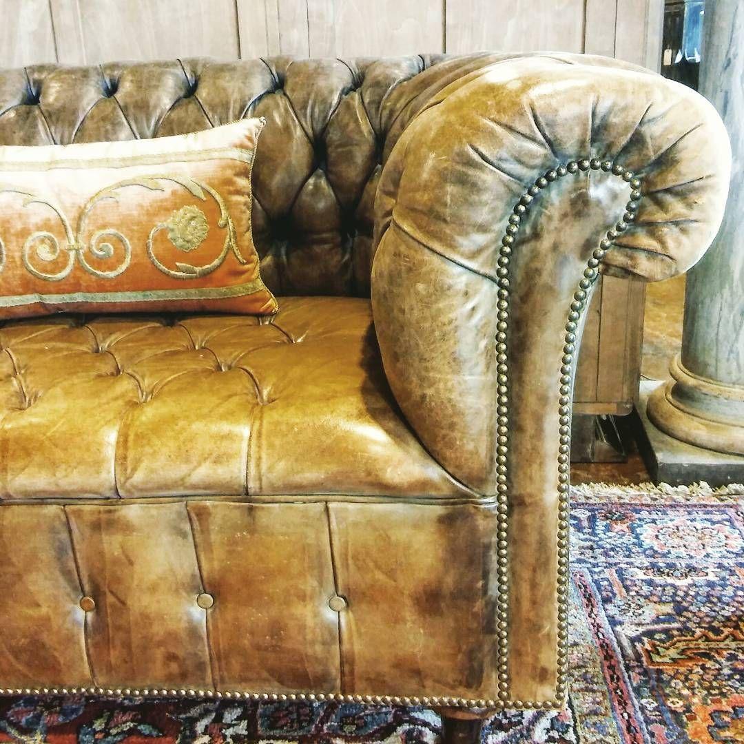 well hello #handsome! early 20th century #english #chesterfield #sofa #antiques #interiordesign #atlanta #antiqueshop #homedecor…
