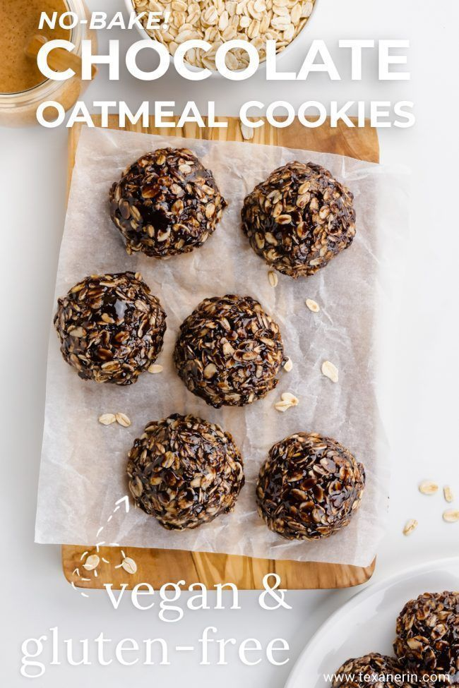 Who doesn't love a good no-bake cookie? Me! These delicious no-bake chocolate oatmeal cookies are wonderfully chewy. They are super easy to make and are vegan, gluten-free and can be made nut-free.