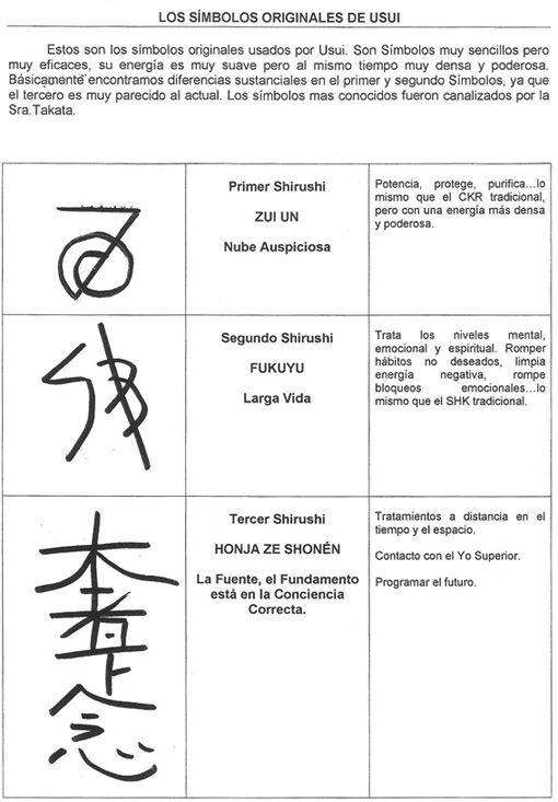 Los Simbolos Originales De Usui Reiki Pinterest Reiki Healing