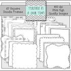 This set includes 67 hand drawn frames in 18 designs. Most designs come in four fills: white, clear/white, clear, and white/clear.  This bundle is ...
