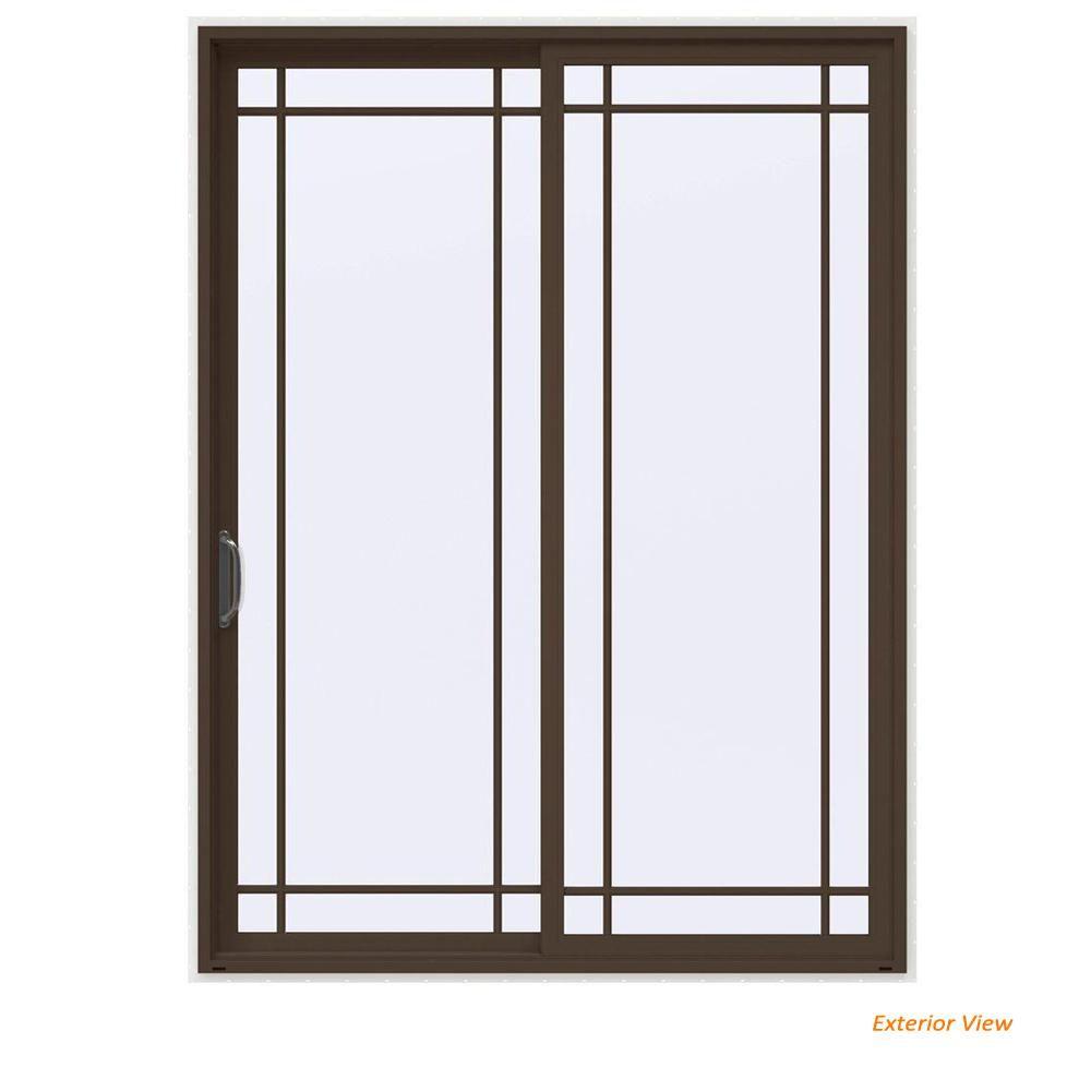 Superbe JELD WEN Swinging Doors, Sliding Patio Doors, Brown Paint, Left Handed,