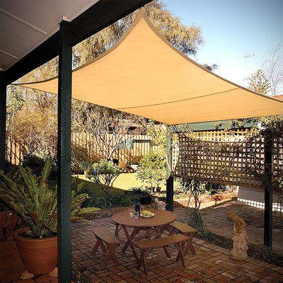 Shelterlogic 16ft X 16ft Square Canopy Sail Reviews Wayfair Backyard Shade Backyard Patio Backyard