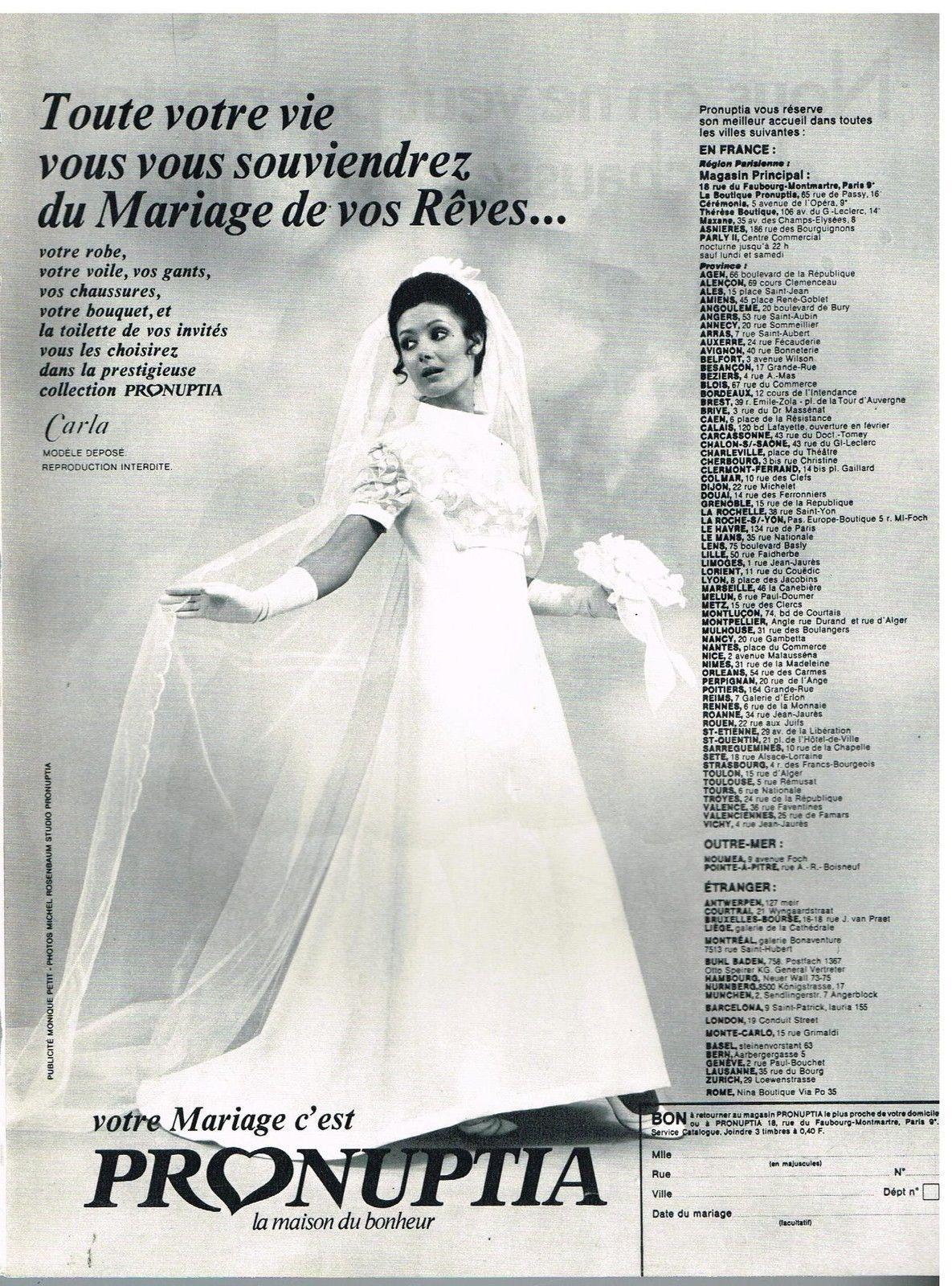 Publicité Advertising 1970 LES Robes DE Mariée Pronuptia   eBay ...