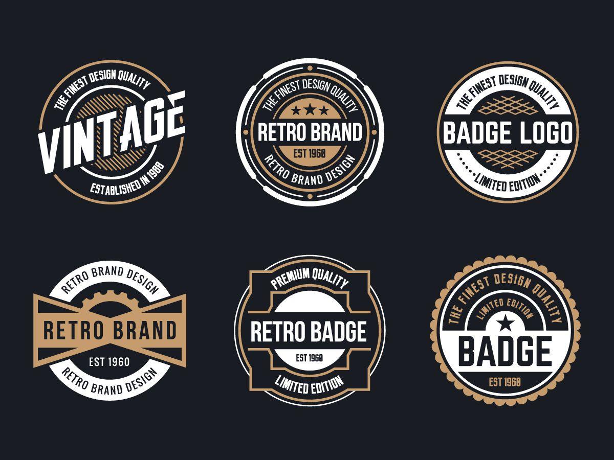 Retro Logo Free Vector Art 15516 Retro Logo Design Badge Design Vintage Logo