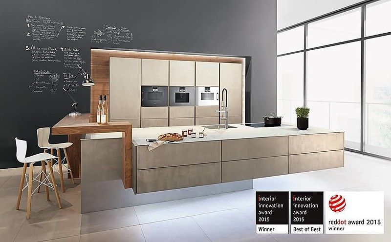 Zeyko musterküche designküche mit metalloberfläche ausstellungsküche in verl von krüper küchen