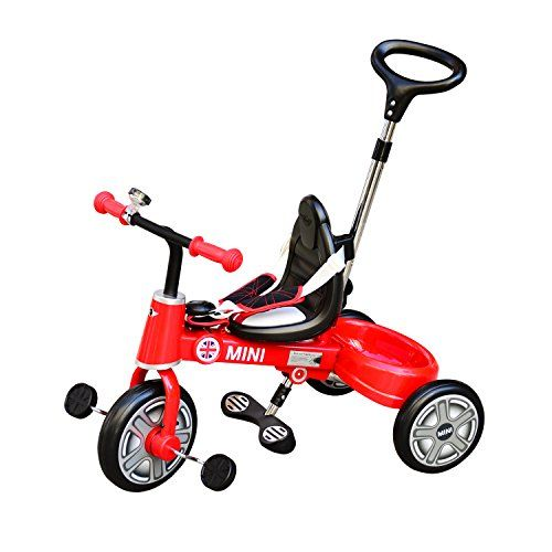 Kids Tricycles Aosom Bmw Mini Toddler Tricycle With Push Handle