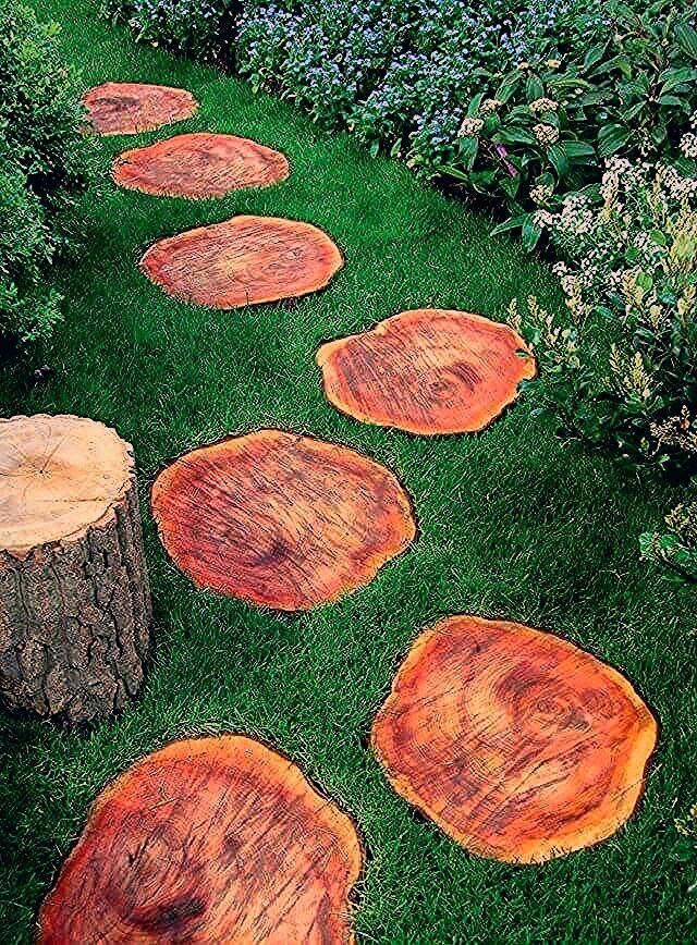 Photo of Eine gute Möglichkeit, Holz zu nutzen Stepping Stones Deko-Ideen – Gartengestatung 2019