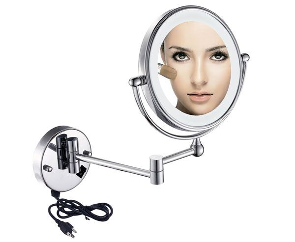 Two Sided Led Light Magnifying Makeup Mirror 1006 Wall Mounted Makeup Mirror Makeup Mirror Lighted Vanity Mirror