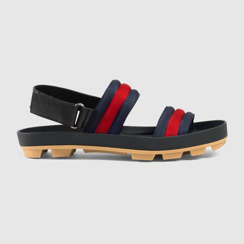 0d2e6e8fce54 GUCCI Leather And Web Sandal.  gucci  shoes  men s sandals