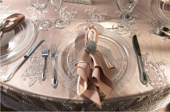 Rose Gold Wedding Vintage Table Linen Rose Gold Wedding