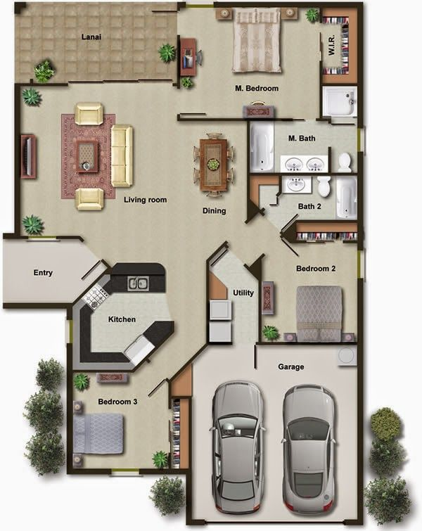 3D And 2D House Plans With Details