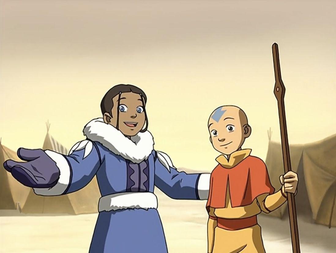 Aang and Katara in 2021 | Avatar book, Avatar the last airbender, Cartoon  online