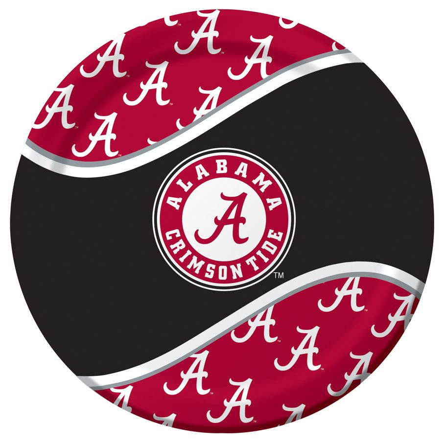 Alabama Crimson Tide Dinner Plates .