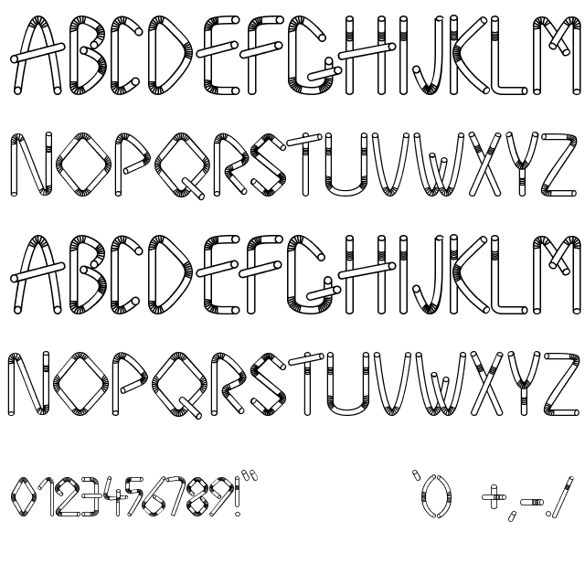 Straw Letters Font  Fonts    Letter Fonts And Fonts