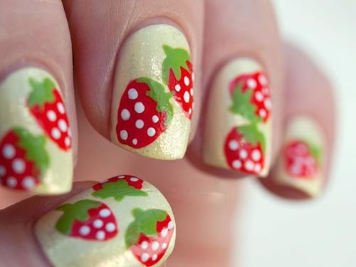 Nail art has gone against tradition to give rise to a more unconventional and awe-inspiring look. Here are the 9 Cute Strawberry Nail Art Designs with Pictures.