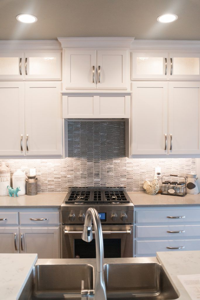 Kitchen Backsplash Artemis Silver Haze Grout Warm Gray