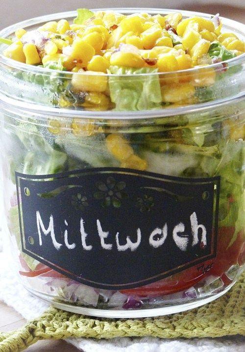 gesunde und echt leckere salate im glas to go lecker und gesund pinterest salat salat. Black Bedroom Furniture Sets. Home Design Ideas