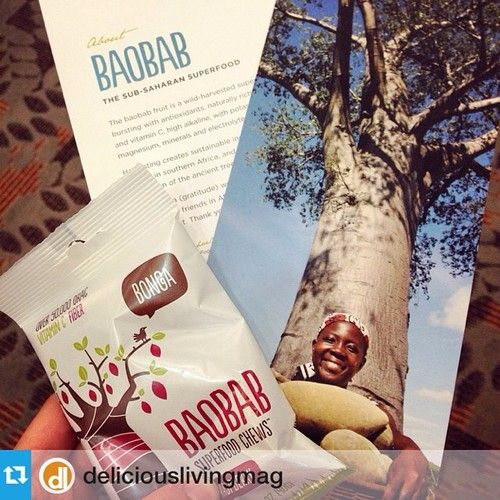#ThrowbackThursday we loved meeting everyone like @deliciouslivingmag at #expoeast #tbt —- @bongafoods #baobab chews, a sub-Saharan superfood paired with a worthy mission. Love it! #expoeast