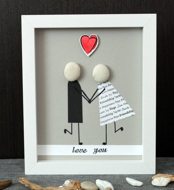 Pebble Art: Ich liebe dich #homegifts