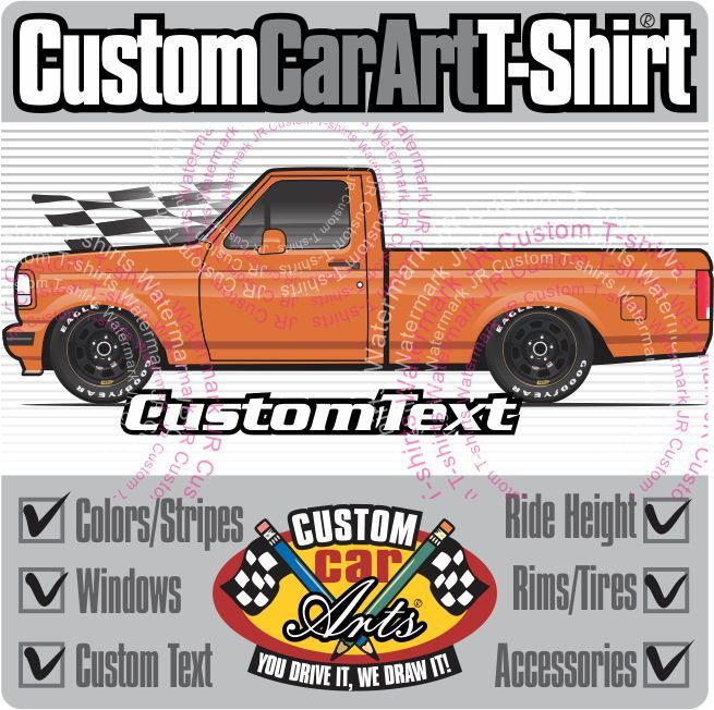 Custom Art T Shirt 92 1992 1993 94 1994 95 1995 1996 Ford F