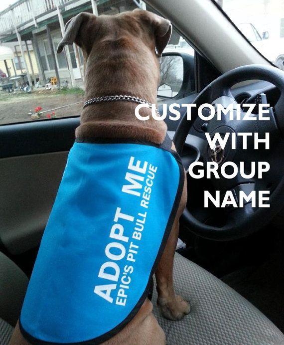 Custom Adopt Me Dog Jacket Vest Add Your Group 39 S Name Dog Jacket Adoption Vest Jacket