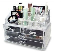 New Make Up Organizer Jewelry Cosmetic Storage Case Drawers Display