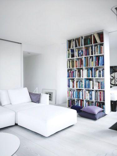 Design Idea Divide And Conquer Tall Bookshelvesblack Bookshelfliving Room