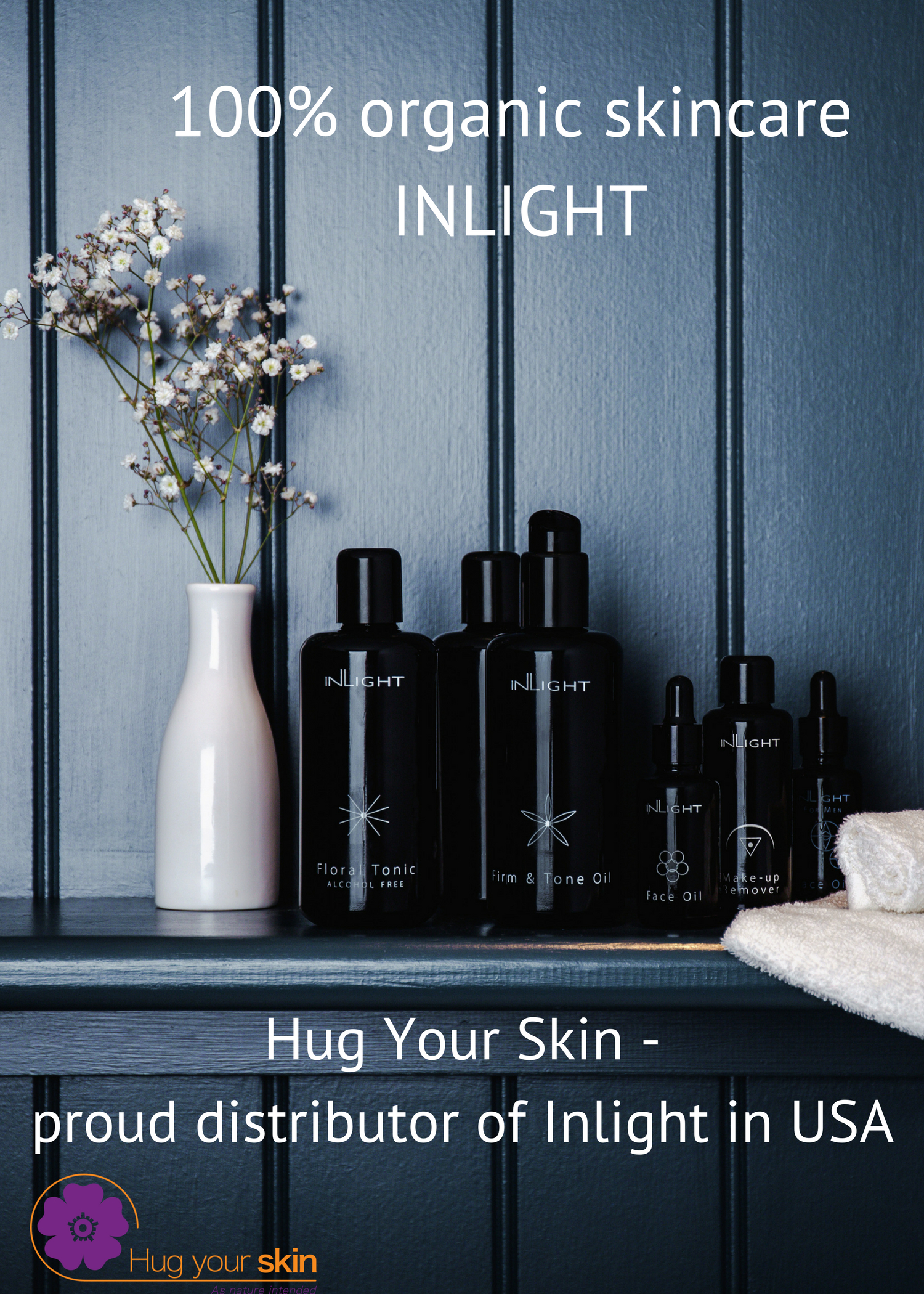 Proudly distributing InLight organic Skincare in USA and