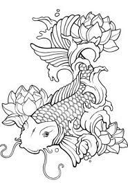 koi fish coloring pages # 1