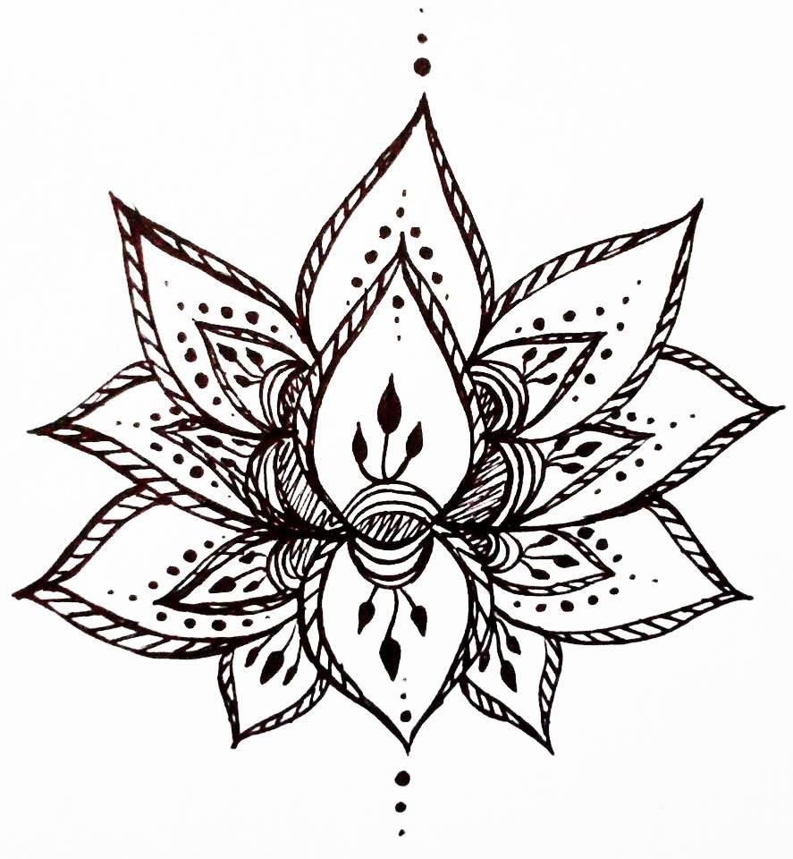 Pin By Fernanda Bucci On Tattoo Ideas Flower Drawing Design Black Lotus Tattoo Henna Tattoo Designs