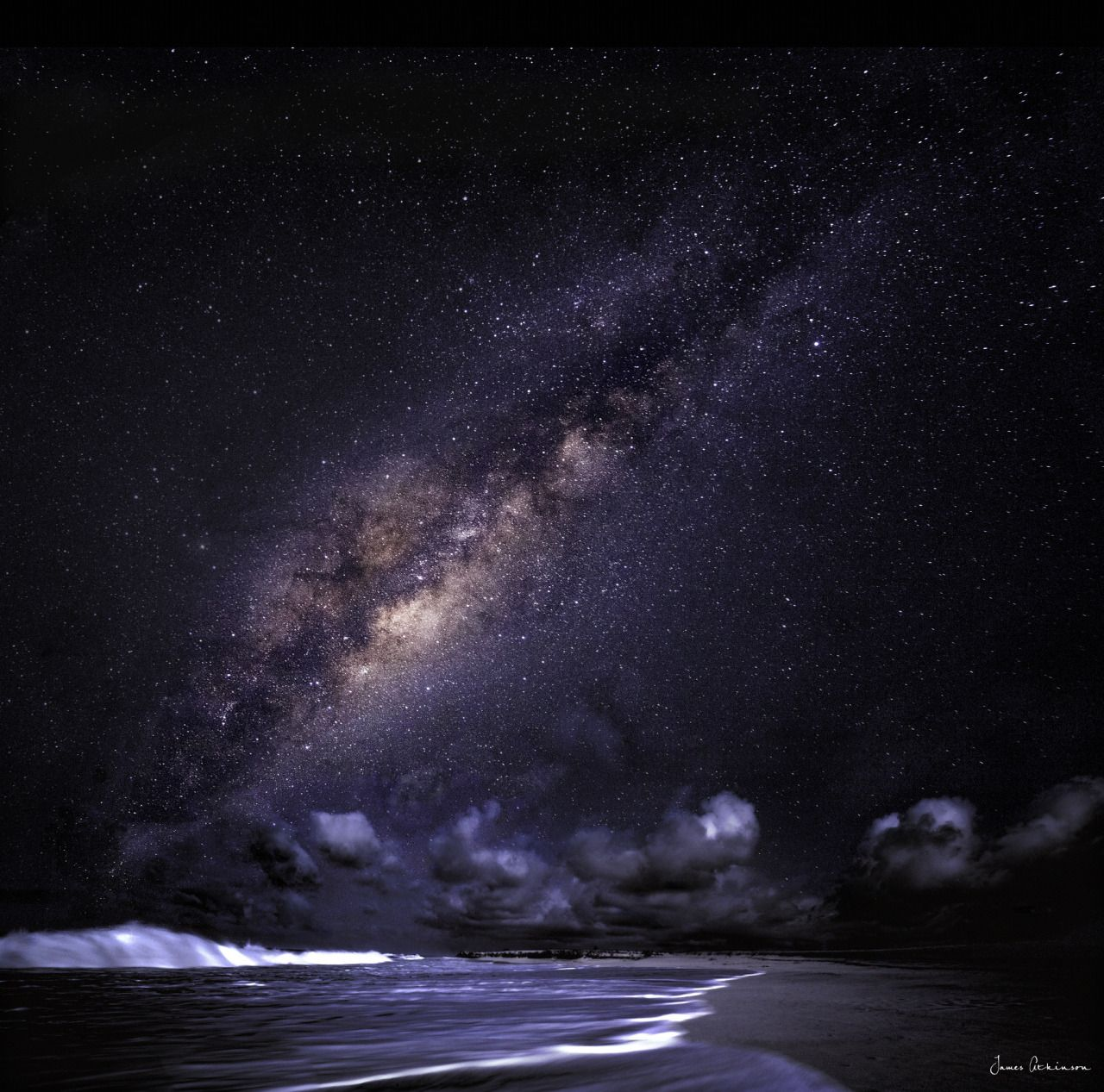 The beautiful Milky Way taken in one of the most darkest skies in the world over Boa Vista in the Cape Verde Islands. photo by James Atkinson