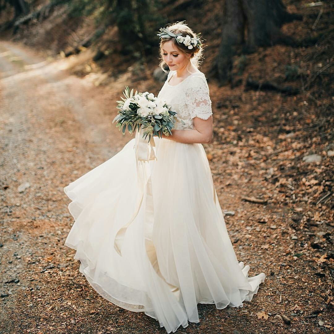 Modest Wedding Dress With Half Sleeves From Alta Moda Bridal Gowns