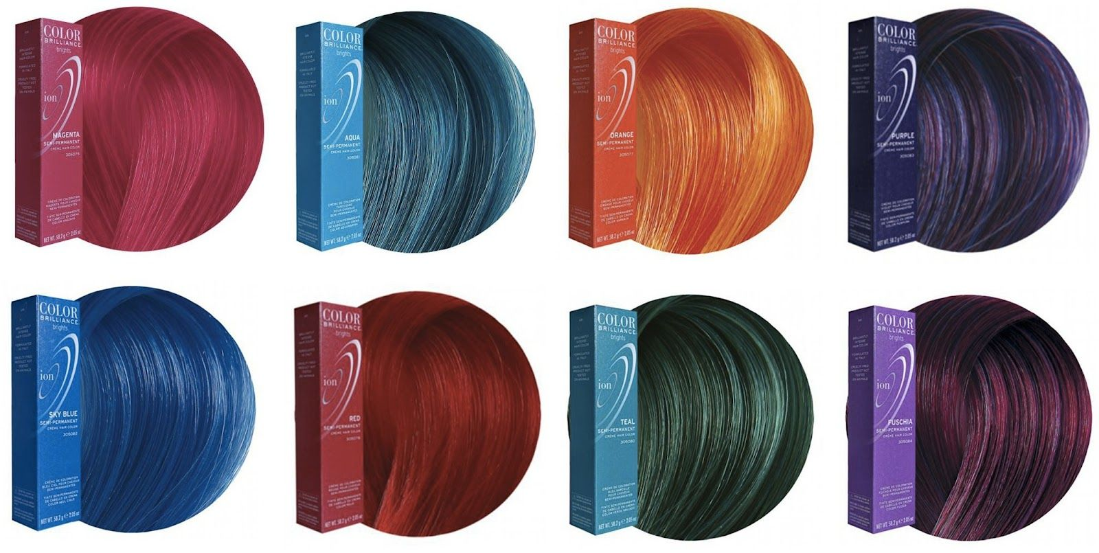 Ion Color Brilliance Brights Color Chart Ion Color Brilliance